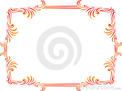 Nature Picture Frame on Decorative Corners And Borders Royalty Free Stock Image   Image