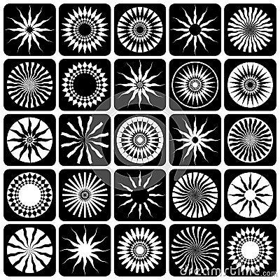Decorative design elements. Patterns set.