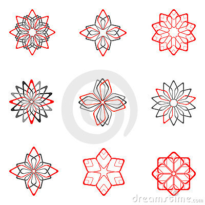 Decorative design elements. Set 5.