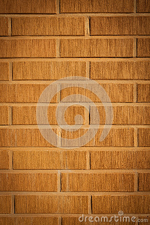 Decorative design facade brick wall
