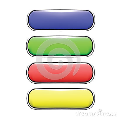 Decorative design Vector long buttons