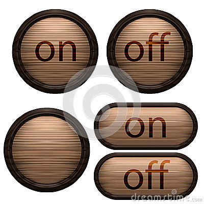 Decorative design Vector wooden buttons