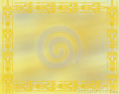 Decorative Design in Yellow