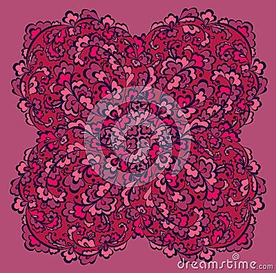 Decorative difficult flowers element
