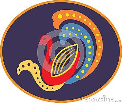 A decorative duck
