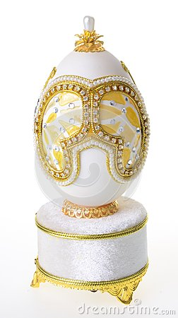 Free Decorative Easter Egg For Jewellery (Faberge Egg) On Background Stock Images - 103051574