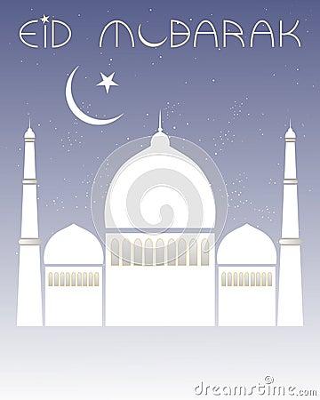 Decorative eid card