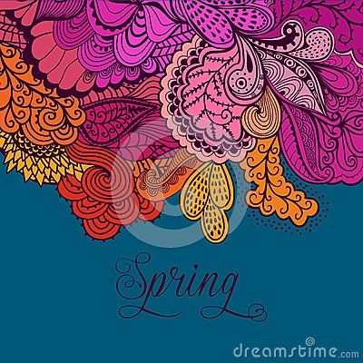 Free Decorative Element, Lace Border. Spring Lettering. Template Wa Royalty Free Stock Photo - 50389115