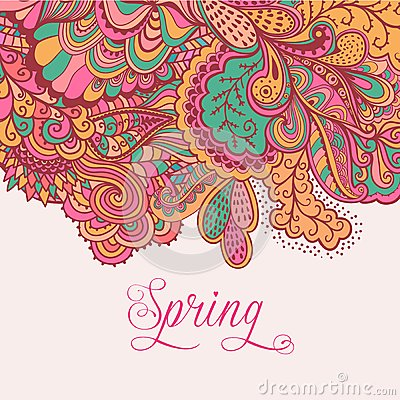 Free Decorative Element, Lace Border. Spring Lettering. Template Wa Royalty Free Stock Photos - 50389128