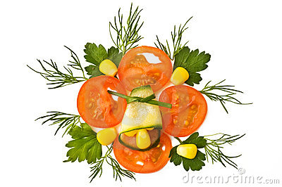 Decorative element with tomato