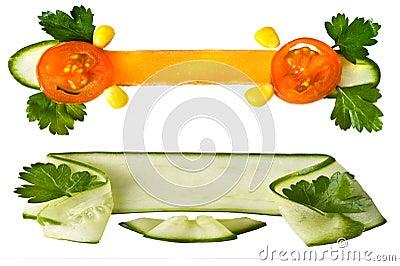 Decorative element with tomato