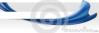 A decorative element. wave