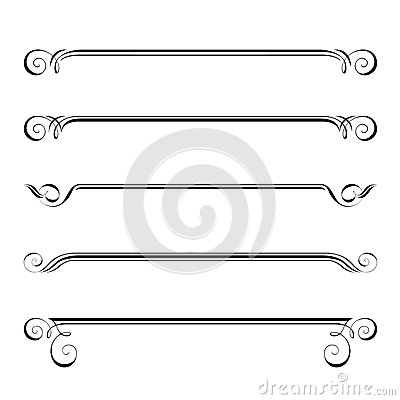Free Decorative Elements, Border And Page Rules Royalty Free Stock Image - 37139786