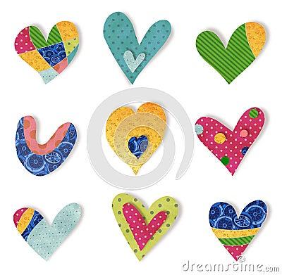 Decorative elements.  Hearts