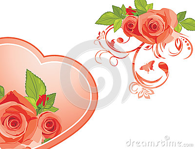Decorative elements with roses