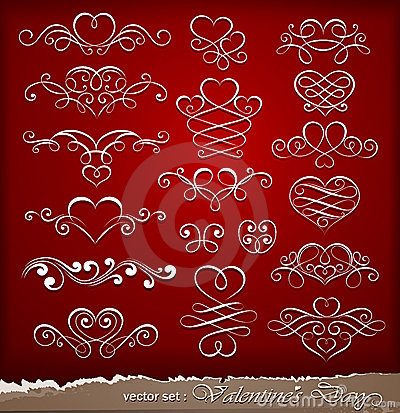 Decorative elements on Valentine s Day