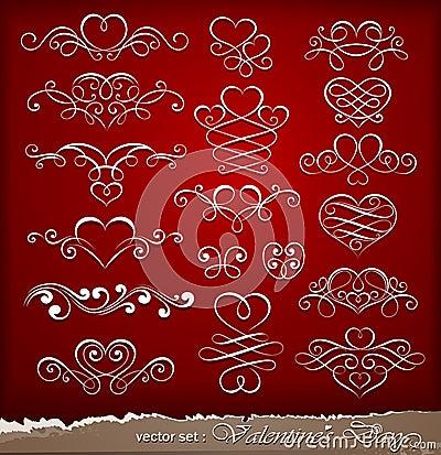 Decorative elements on Valentine s Day