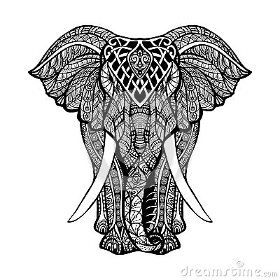 Free Decorative Elephant Illustration Stock Photos - 59463533