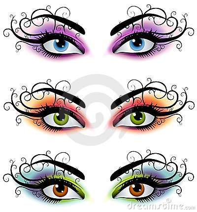 Decorative Female Eyes Masks