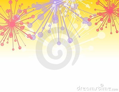 Decorative Fireworks Border
