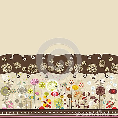Free Decorative Floral Background Stock Images - 26544474