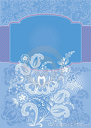 Decorative floral blue background