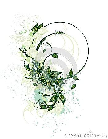 Decorative floral cover design