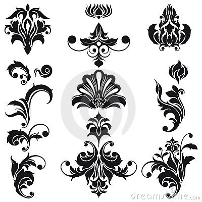 Free Decorative Floral Design Elements Stock Image - 8277231