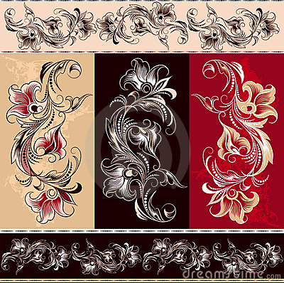 Free Decorative Floral Elements Royalty Free Stock Photos - 3250768