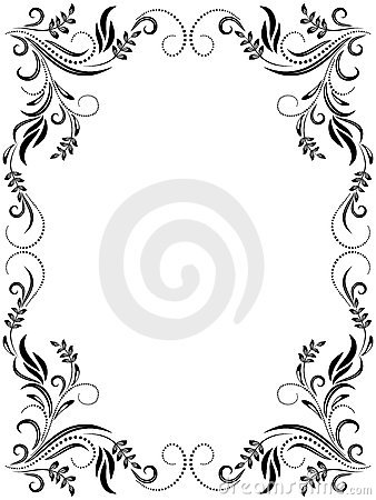 Decorative floral frame