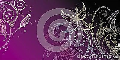 Decorative floral illustration