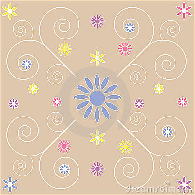 Decorative Floral swirls background abstract