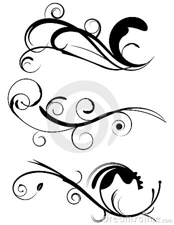 Free Decorative Flourishes Set 1 Stock Image - 19071481