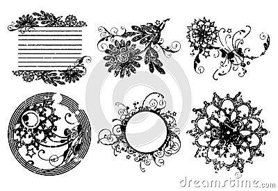 Decorative Flower Circle Frames