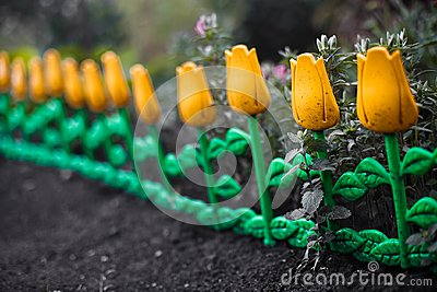Decorative flower fence