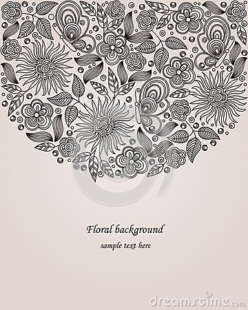 Decorative flower illustration