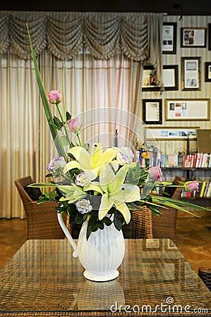 Decorative Flowers in Vase