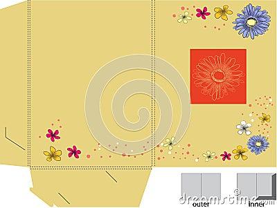 Decorative folder with die cut