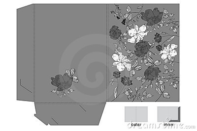 Decorative folder with floral pattern