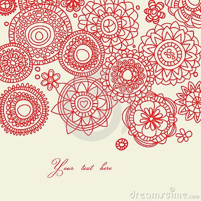 Decorative folk floral background