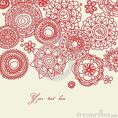 Decorative folk floral background