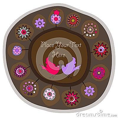Decorative folk plate
