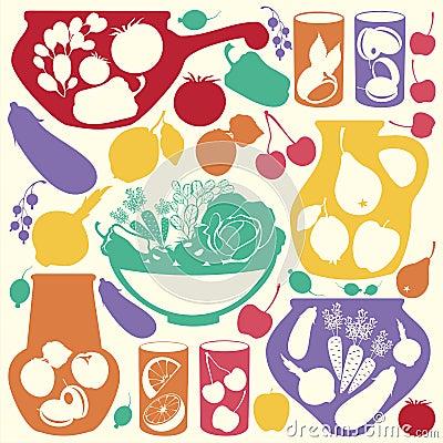Decorative food icons
