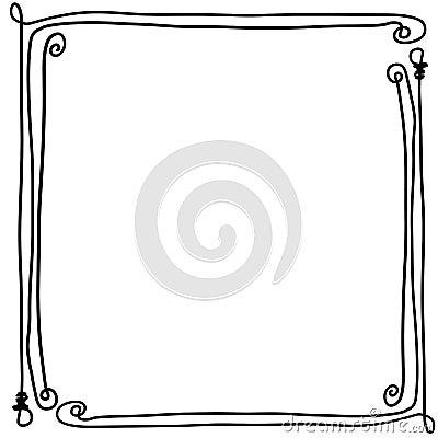 Free Decorative Frame Border With Bendy Bones Royalty Free Stock Photo - 85743185