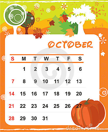 Decorative Frame for calendar - October