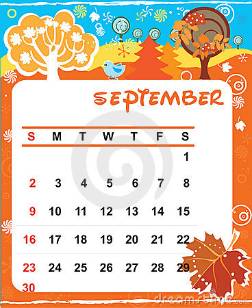 Decorative Frame for calendar - September