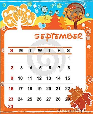 Decorative Frame for calendar - September