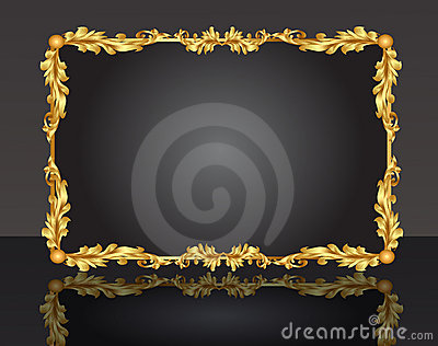 Decorative frame with pattern gold sheet