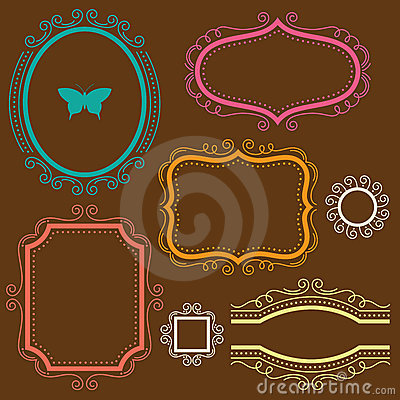 Free Decorative Frame Set Stock Photo - 18683040