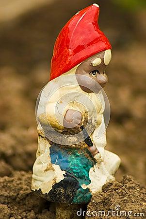 Decorative garden gnome
